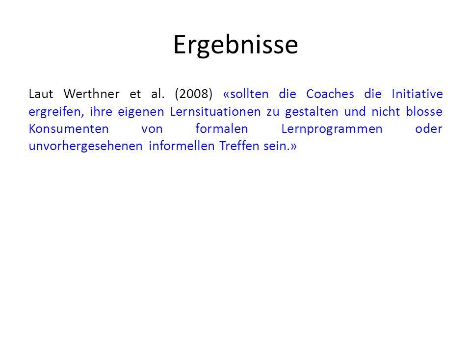Ergebnisse Laut Werthner et al.
