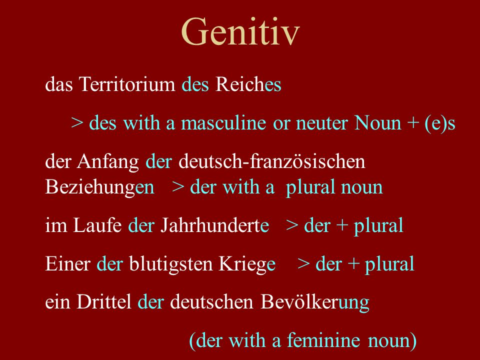 Genitiv the title of the book