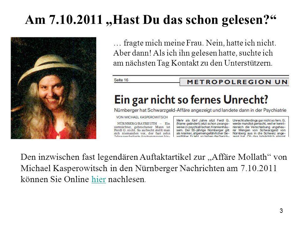 """3 Am 7.10.2011 """"Hast Du das schon gelesen … fragte mich meine Frau."""