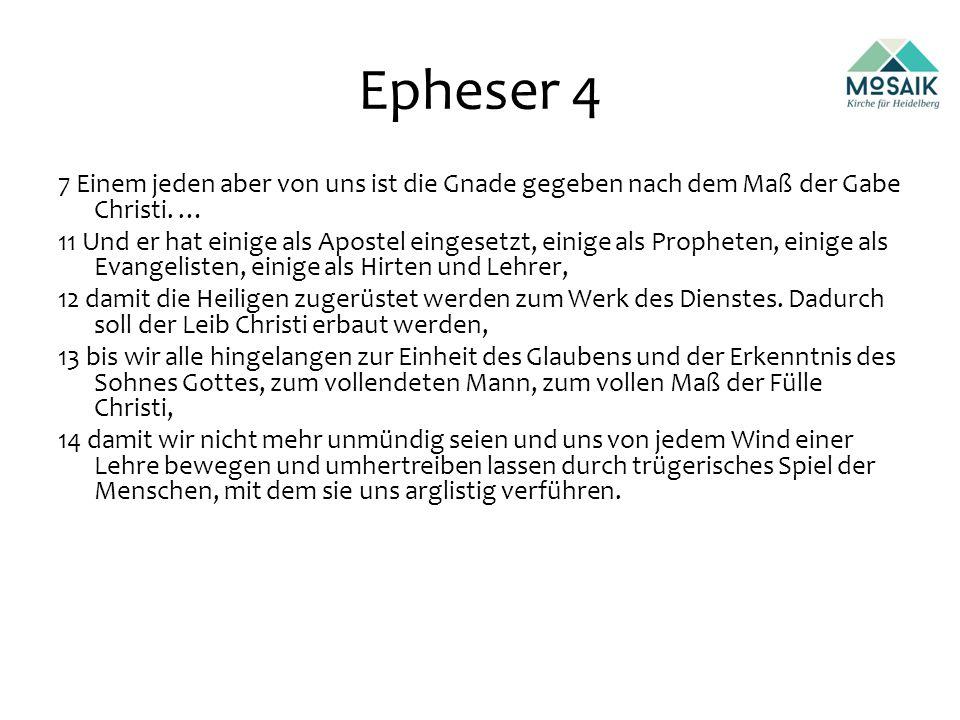 Epheser 4 7 Einem jeden aber von uns ist die Gnade gegeben nach dem Maß der Gabe Christi.