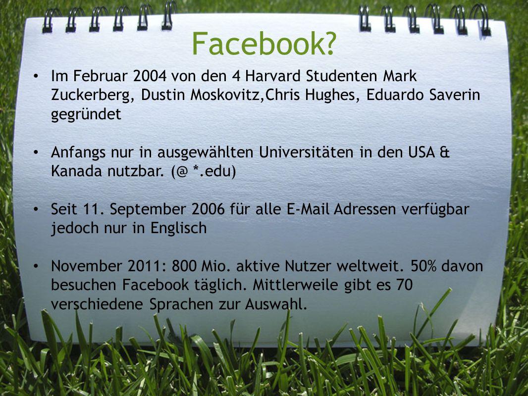 Facebook.Alle User verbringen pro Monat ca. 700 Mrd.