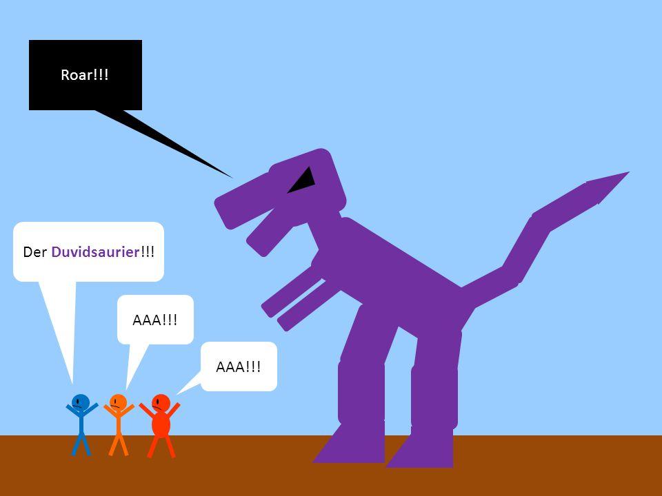 Wartet mal.Wieso ist Duvid denn ein Dinosaurier.