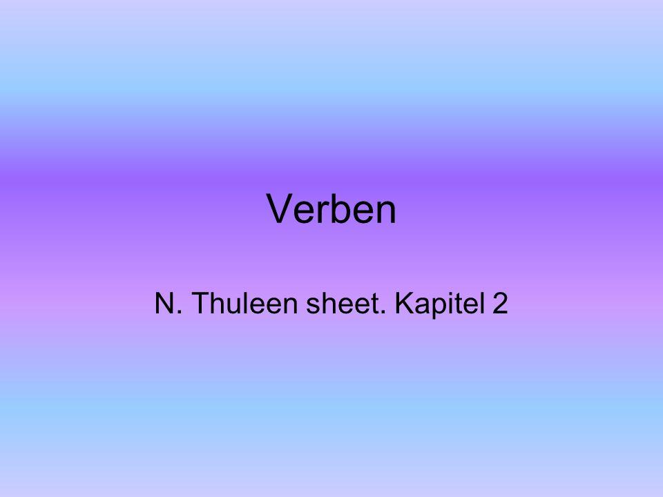 Verben N. Thuleen sheet. Kapitel 2