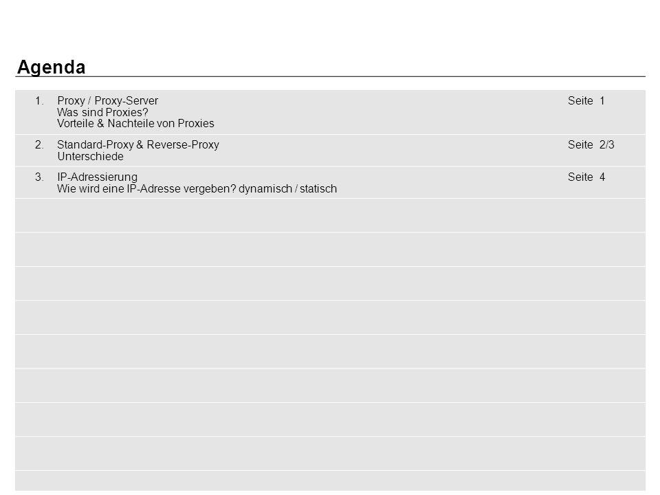 2 Marius Schwuchow  WG13  Köln / den 11.02.2014 1.Proxy / Proxy-Server Was sind Proxies.