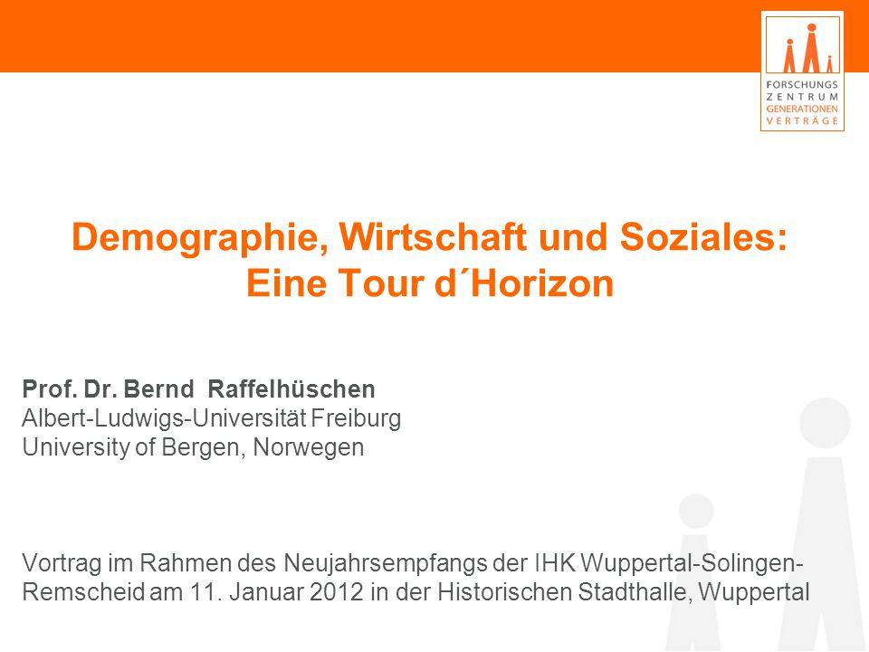Demographie, Wirtschaft und Soziales: Eine Tour d´Horizon Prof.