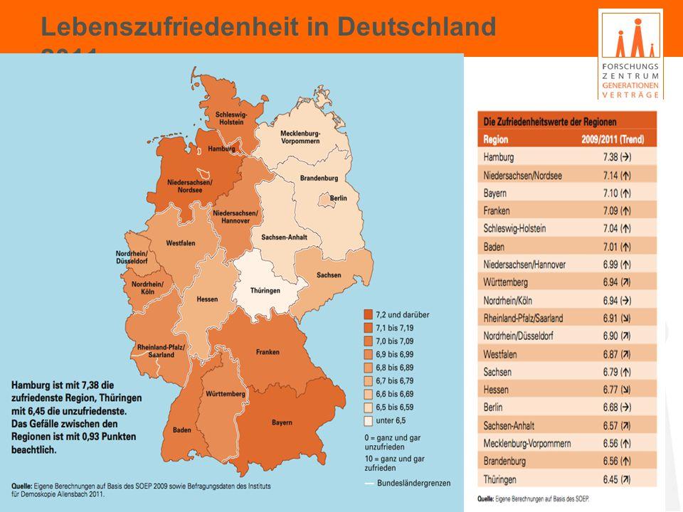 Lebenszufriedenheit in Deutschland 2011 19