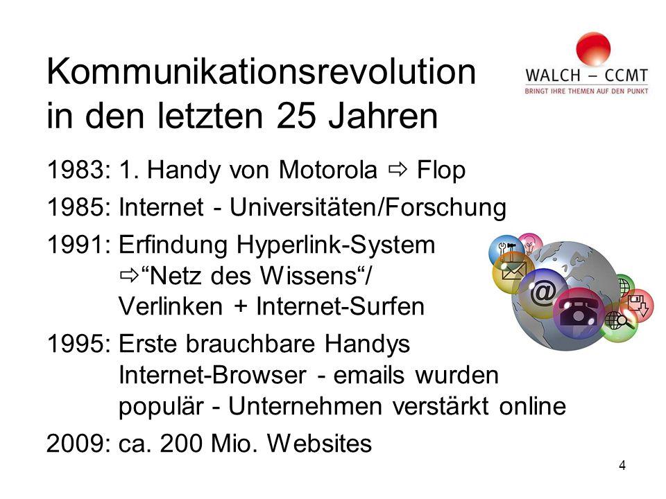 4 Kommunikationsrevolution in den letzten 25 Jahren 1983: 1.