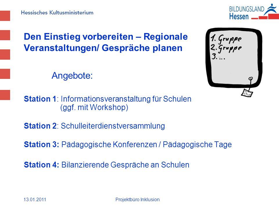 Den Einstieg vorbereiten – Regionale Veranstaltungen/ Gespräche planen Angebote: Station 1: Informationsveranstaltung für Schulen (ggf.