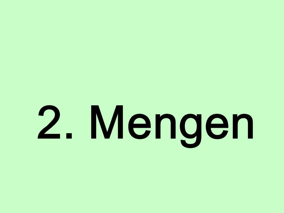 2. Mengen