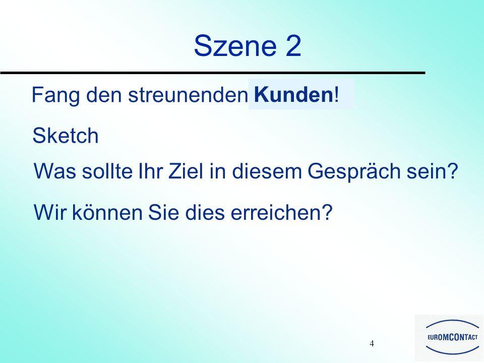 3 Szene 1 Was ich schon gehört habe (Auszug). Anrufer : Hier ist Herr Meier.