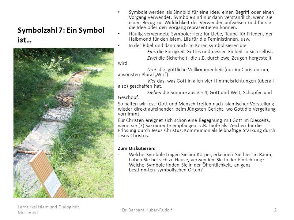 Symbolzahl 7: Ein Symbol ist… Symbole werden als Sinnbild für eine Idee, einen Begriff oder einen Vorgang verwendet. Symbole sind nur dann verständlic