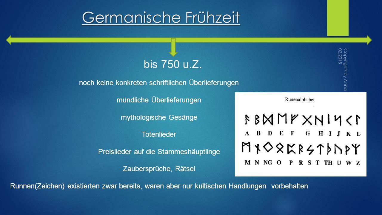 Germanische Frühzeit bis 750 u.Z.
