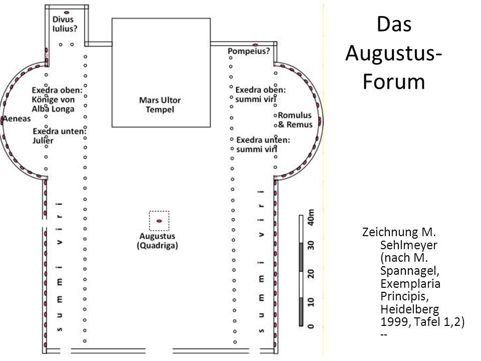 Das Augustus- Forum Zeichnung M. Sehlmeyer (nach M. Spannagel, Exemplaria Principis, Heidelberg 1999, Tafel 1,2) --