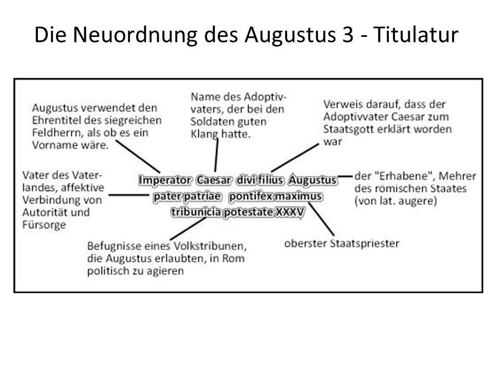 Die Neuordnung des Augustus 3 - Titulatur --