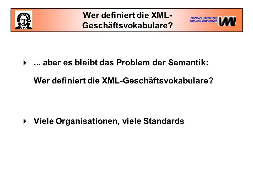 Wer definiert die XML- Geschäftsvokabulare. ...