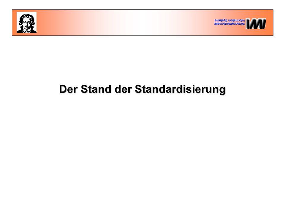 Der Stand der Standardisierung
