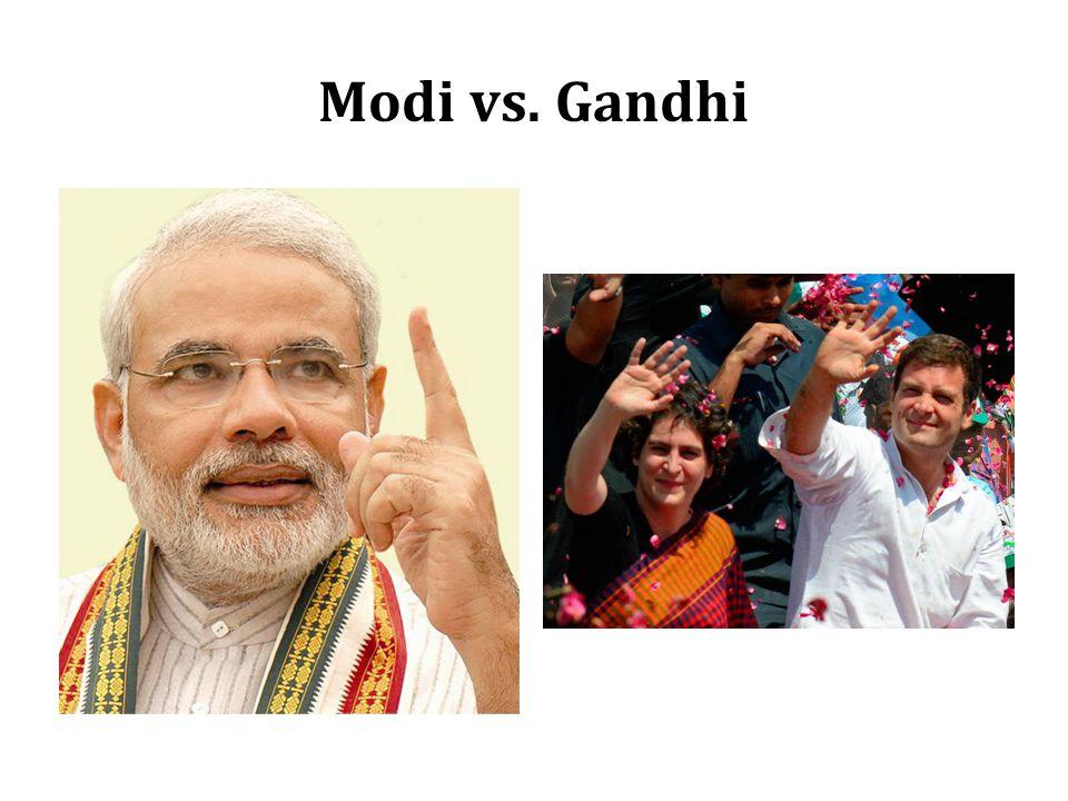 Modi vs. Gandhi