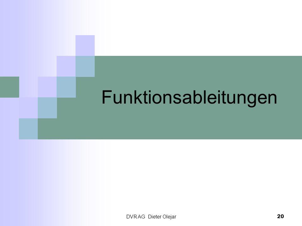 DVR AG Dieter Olejar 20 Funktionsableitungen