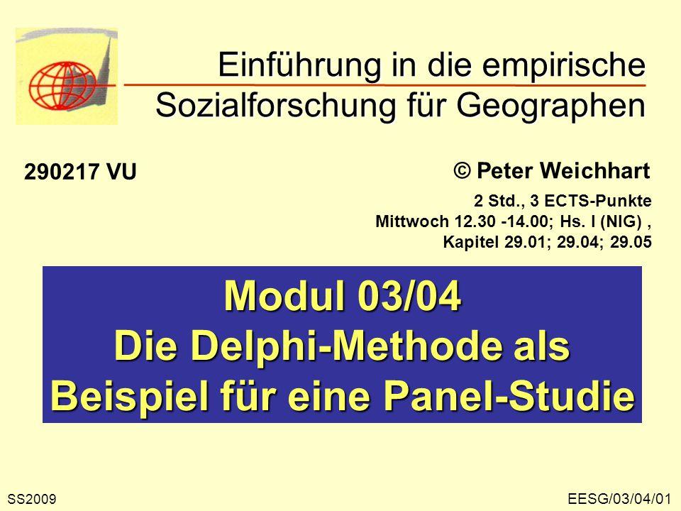Die Delphi-Methodik Die Delphi-Methodik wurde in den 1940er Jahren von der RAND-Corporation entwickelt und in der Folge zu einem Standardinstrument der Sozialforschung weiterentwickelt.