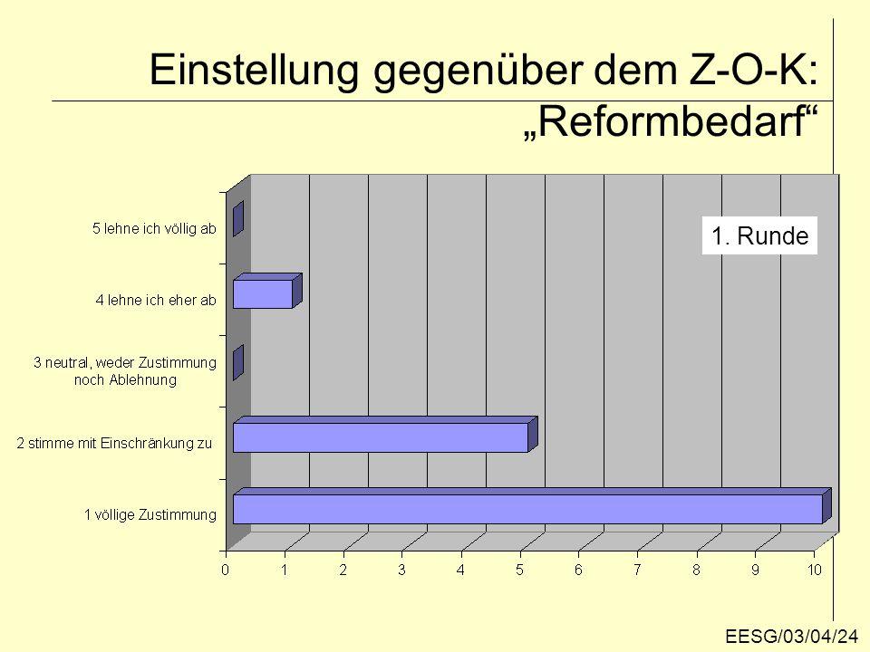Reformbedarf für das Z-O-K 2. Runde EESG/03/04/25