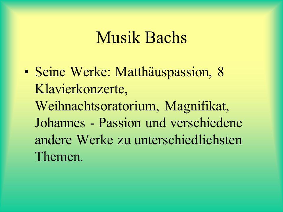 Zu seiner Person: Johann Sebastian Bach war zweimal verheiratet und hatte 20 Kinder, von denen etliche selbst namenhafte Musiker und Komponisten wurde