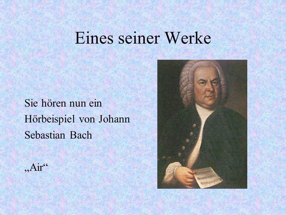 Musik Bachs Seine Werke: Matthäuspassion, 8 Klavierkonzerte, Weihnachtsoratorium, Magnifikat, Johannes - Passion und verschiedene andere Werke zu unte