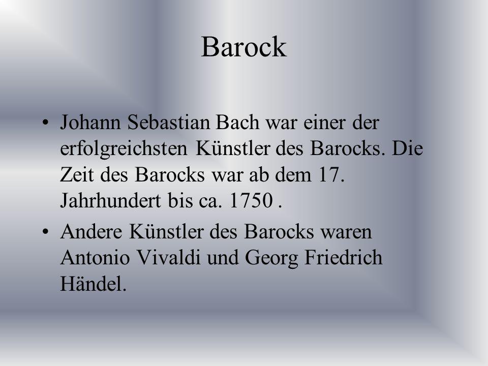 """Eines seiner Werke Sie hören nun ein Hörbeispiel von Johann Sebastian Bach """"Air"""""""