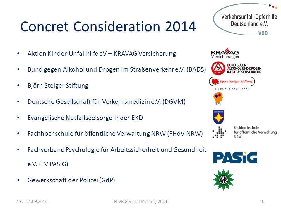 Concret Consideration 2014 Aktion Kinder-Unfallhilfe eV – KRAVAG Versicherung Bund gegen Alkohol und Drogen im Straßenverkehr e.V.