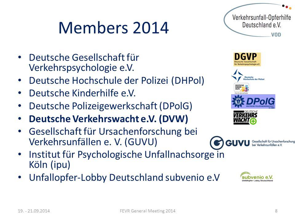 Cooperation 2014 Bundesanstalt für Straßenwesen (BASt) Deutscher Verkehrssicherheitsrat e.