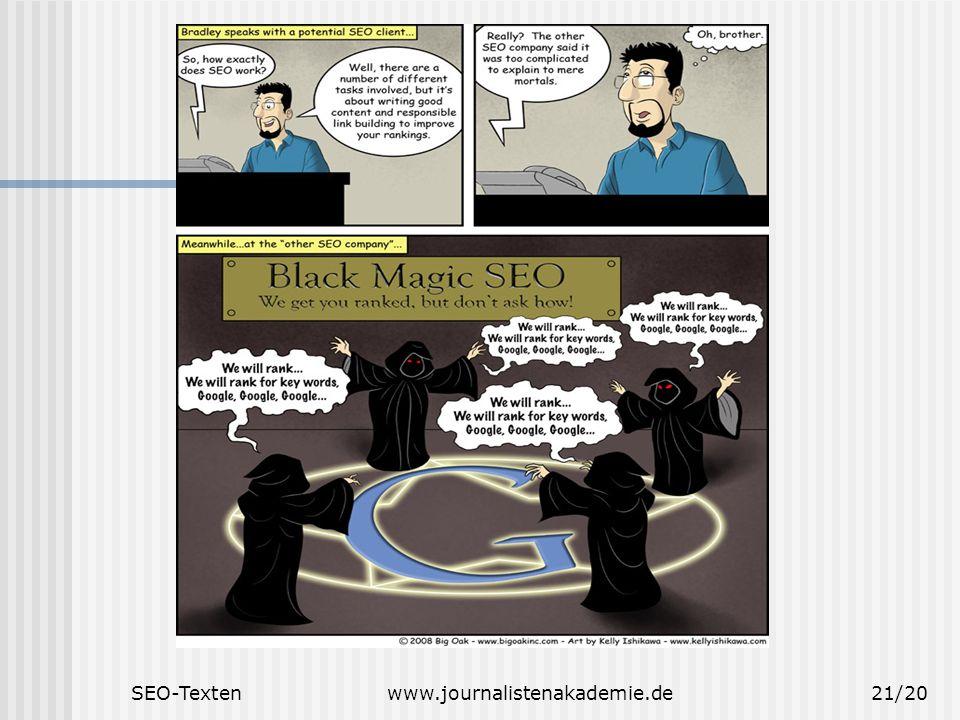SEO-Textenwww.journalistenakademie.de21/20