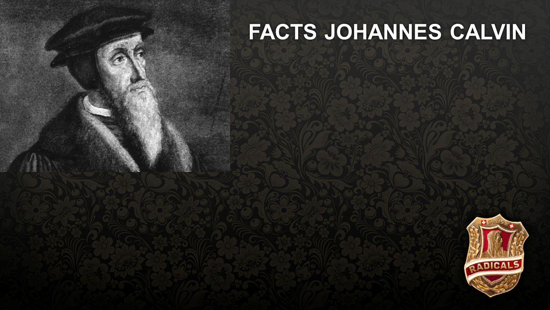 Facts Calvin FACTS JOHANNES CALVIN Geboren 1509 in NordfrankreichGeboren 1509 in Nordfrankreich
