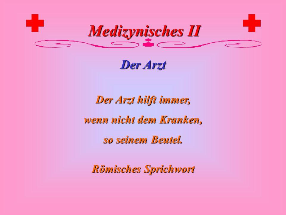 Medizynisches II Der Arzt Bei riesigen Nebenwirkungen erschlagen sie ihren Arzt oder Apotheker.