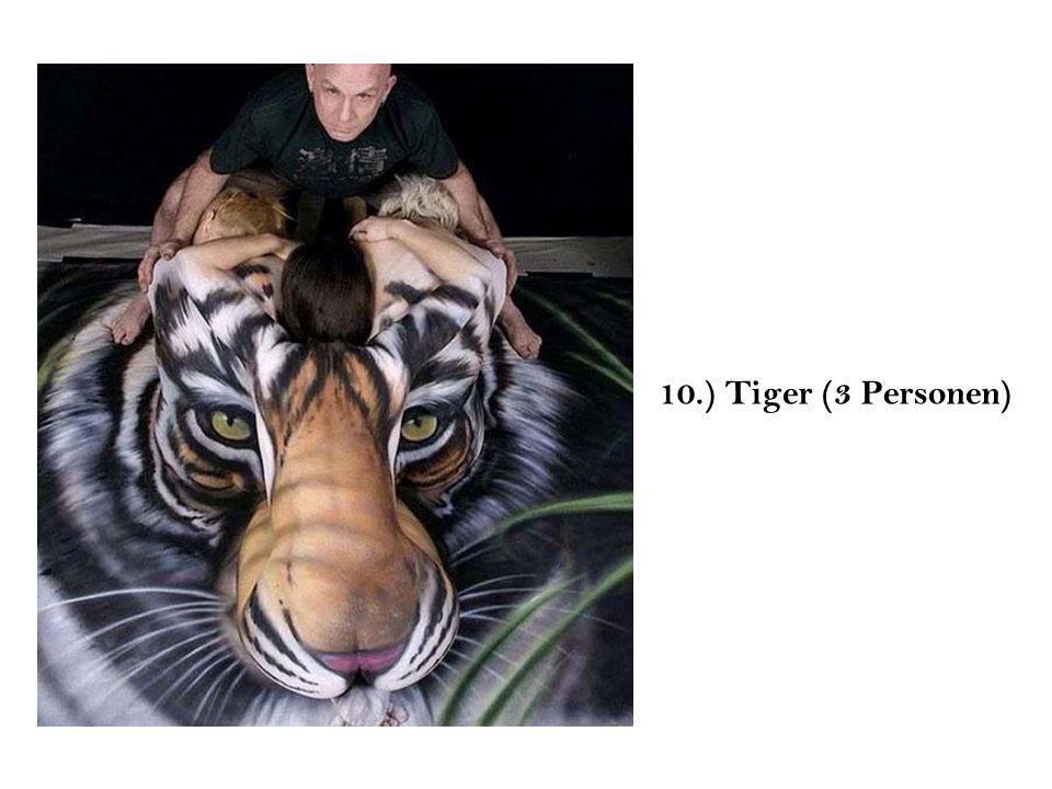 10.) Tiger (3 Personen)