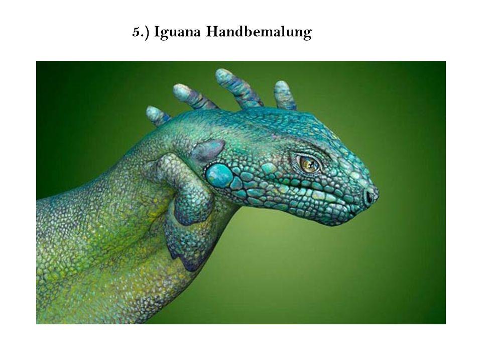 5.) Iguana Handbemalung
