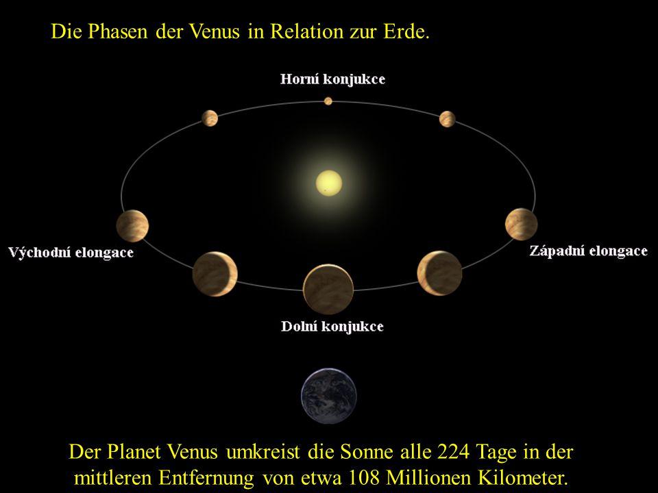 Krater auf der Venus Frage: Welche Temperatur herrscht auf der Oberfläche der Venus.