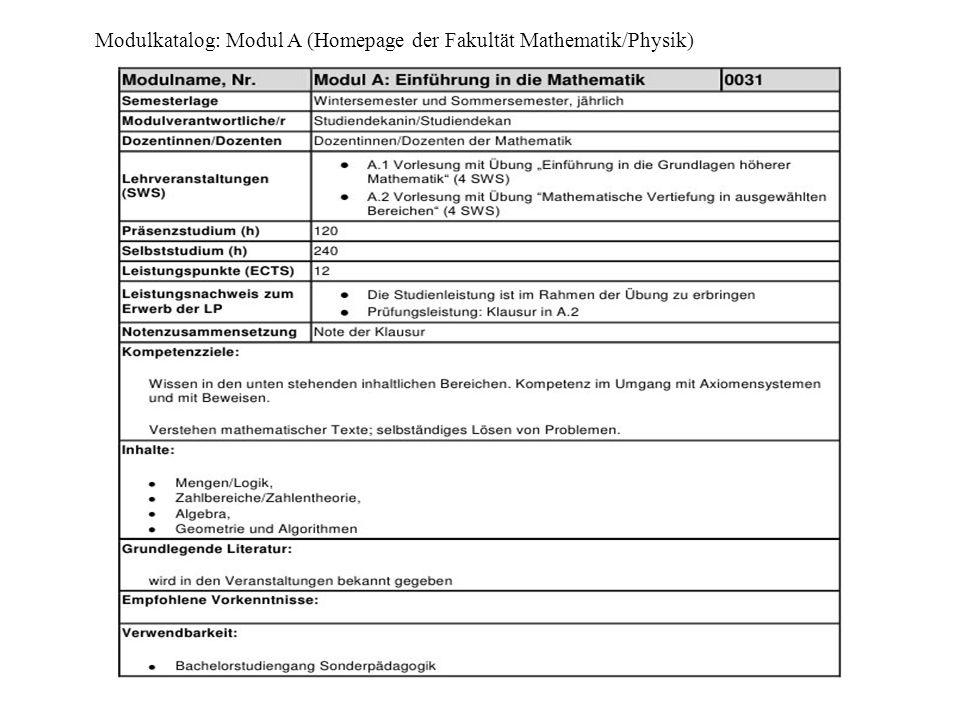 Hinweise zur Studienplanung (Homepage des IDMP)