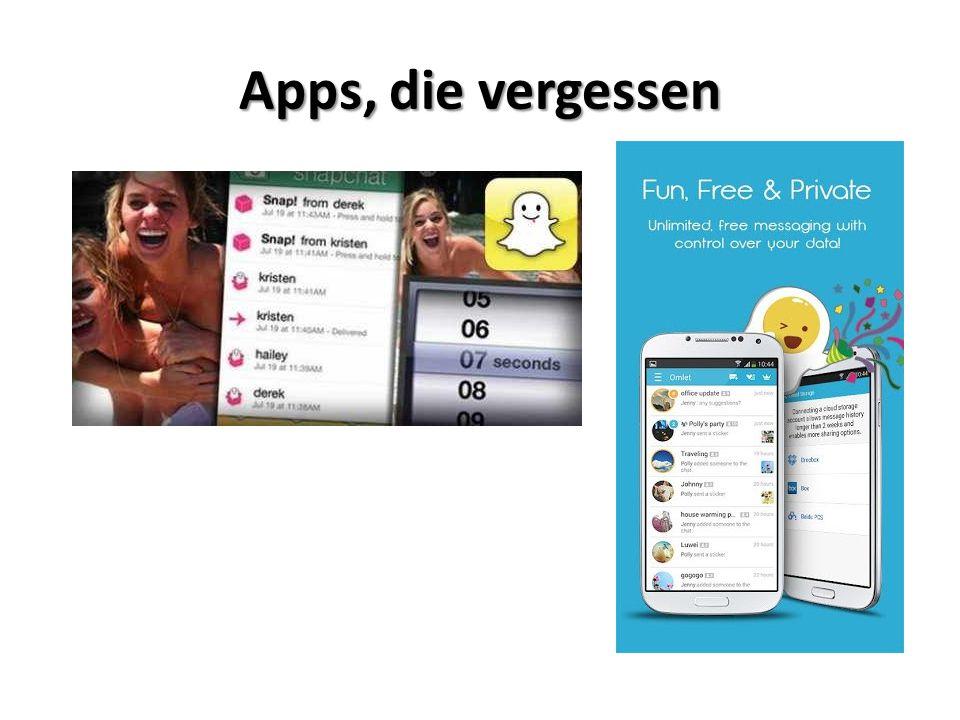 Apps, die vergessen