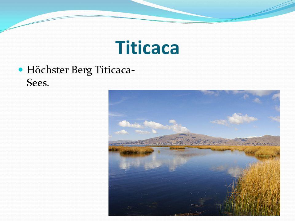 Titicaca Höchster Berg Titicaca- Sees.