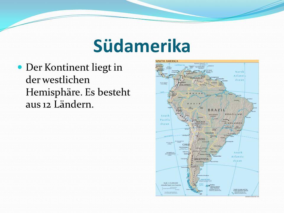 Die Oberfläche und die Einwohnerzahl Südamerika nimmt 17 840 000 Quadratkilometern.