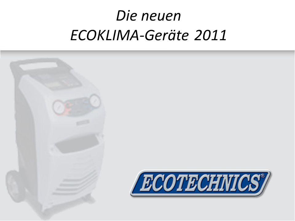 Die neuen ECOKLIMA-Geräte 2011