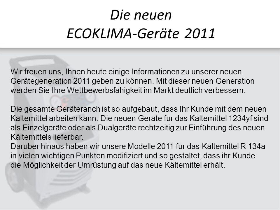 Wir freuen uns, Ihnen heute einige Informationen zu unserer neuen Gerätegeneration 2011 geben zu können.
