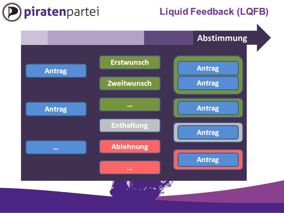 Abstimmung Antrag … Erstwunsch Zweitwunsch … Enthaltung Ablehnung … Antrag … Liquid Feedback (LQFB)