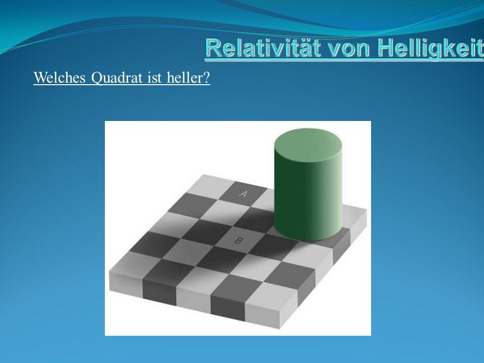 Welches Quadrat ist heller?