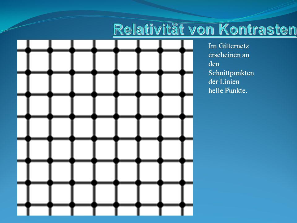 Im Gitternetz erscheinen an den Schnittpunkten der Linien helle Punkte.