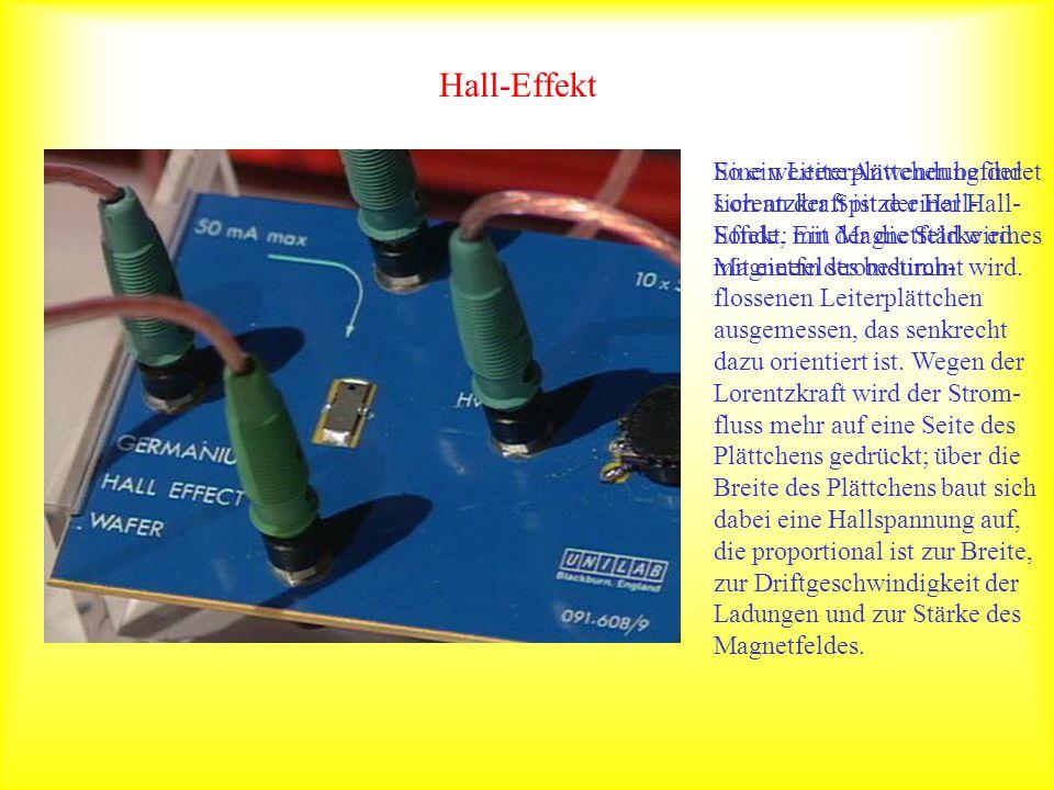 Weitere Anwendungen und Beispiele Die Einheit 1 Ampere wird über die Anziehung zwischen zwei parallelen Leitern definiert.