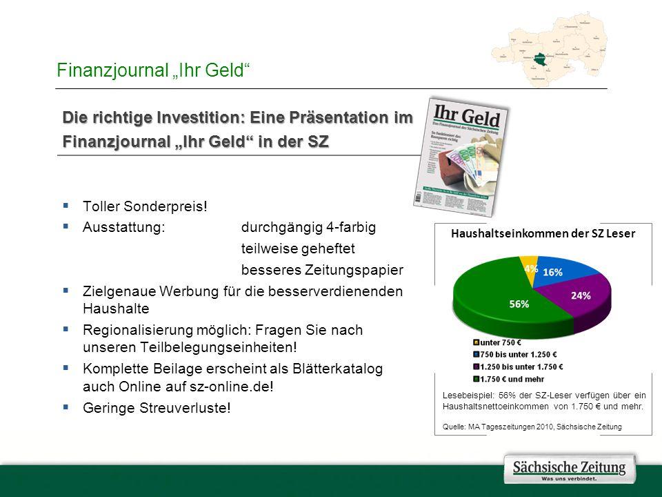 """Finanzjournal """"Ihr Geld Die richtige Investition: Eine Präsentation im Finanzjournal """"Ihr Geld in der SZ  Toller Sonderpreis."""
