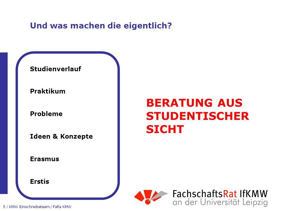 5 / KMW Einschreibeteam / FaRa KMW Und was machen die eigentlich.