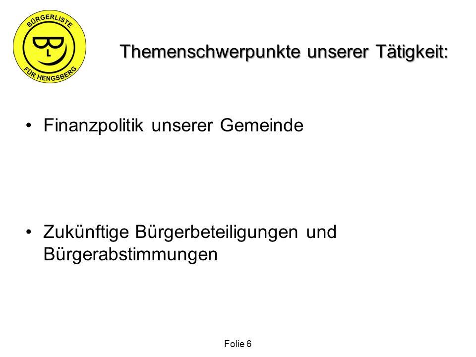 Abfallwirtschaft Hengsberg Informationen über die Abfallwirtschaft sind auf der Webseite der Gemeinde Hengsberg ohne Angabe der tatsächlichen Entsorgungskosten Folie 17