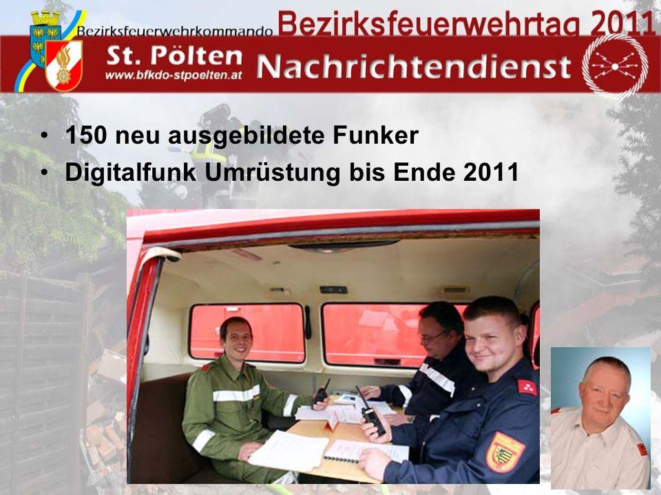150 neu ausgebildete Funker Digitalfunk Umrüstung bis Ende 2011
