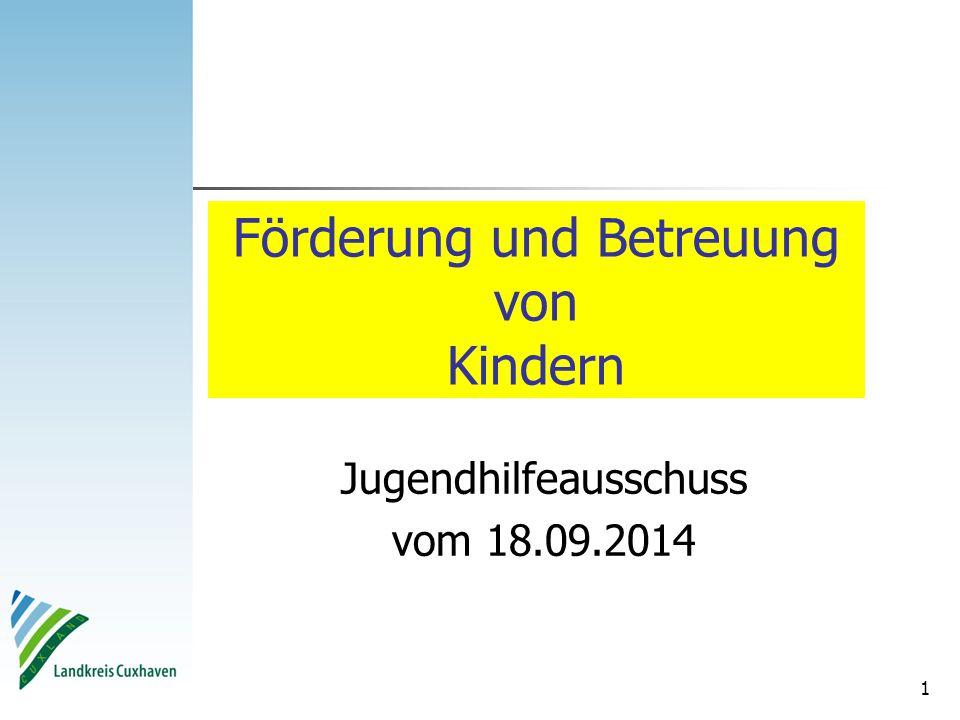 1 Förderung und Betreuung von Kindern Jugendhilfeausschuss vom 18.09.2014